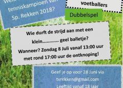 Tennistoernooi voor voetballers Sp.Rekken