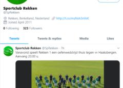 Sportclub Rekken weer op Twitter actief